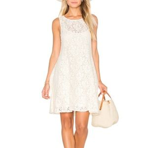 Free People Miles of Lace Shift Dress